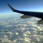Wing of a plane in flight