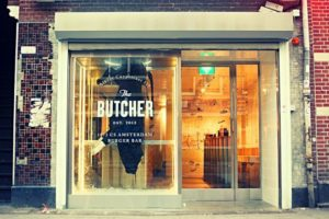 The entrance to the Butcher, Amsterdam's most exclusive bar