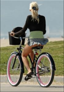 miniskirt on a bike an important part of fitting into Dutch society