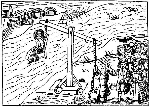 Dunking stool Dutch lady