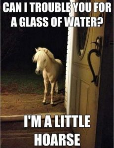 little hoarse