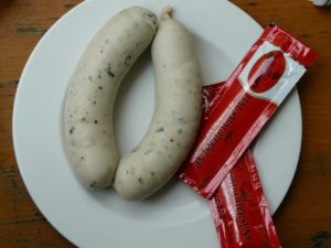 Bavarian white sausage, weisswurst