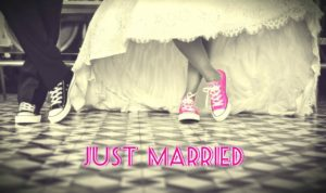 sneakers with a wedding dress