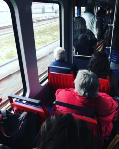 Taking up two seats on public transport common in Amsterdam