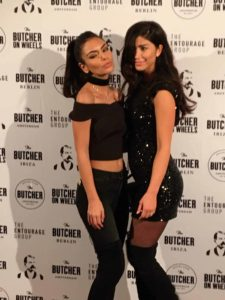 Beautiful ladies at the opening party of the Butcher Social Club in Amsterdam