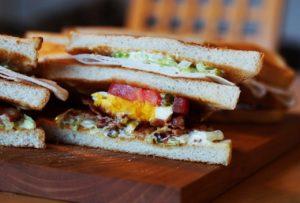 A classic club sandwich