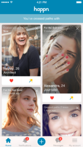 Happn dating app female profile