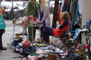 king's day in Amsterdam flea market