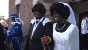 blackface couple getting married
