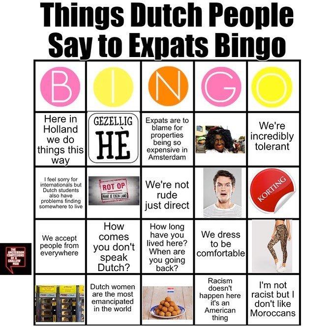 Expat bingo MEME