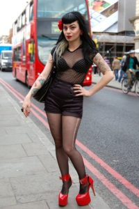 woman fashionable in Camden Town