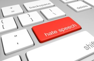 hate speech on Facebook keyboard photo