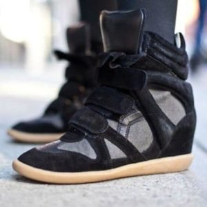 a status symbol in Amsterdam Isabel Marant high top sneakers