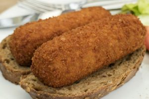Dutch croquettes on bread