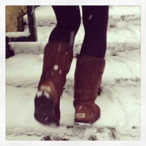 uggs in snow