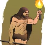 Dutch cavemen carrying fire