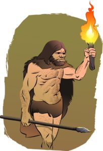 Dutch cavemen carrying fire
