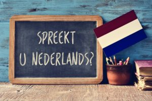 chalkboard asking if you speak Dutch