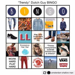 dutch trendy male bingo meme