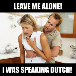 Force tourists to learn Dutch