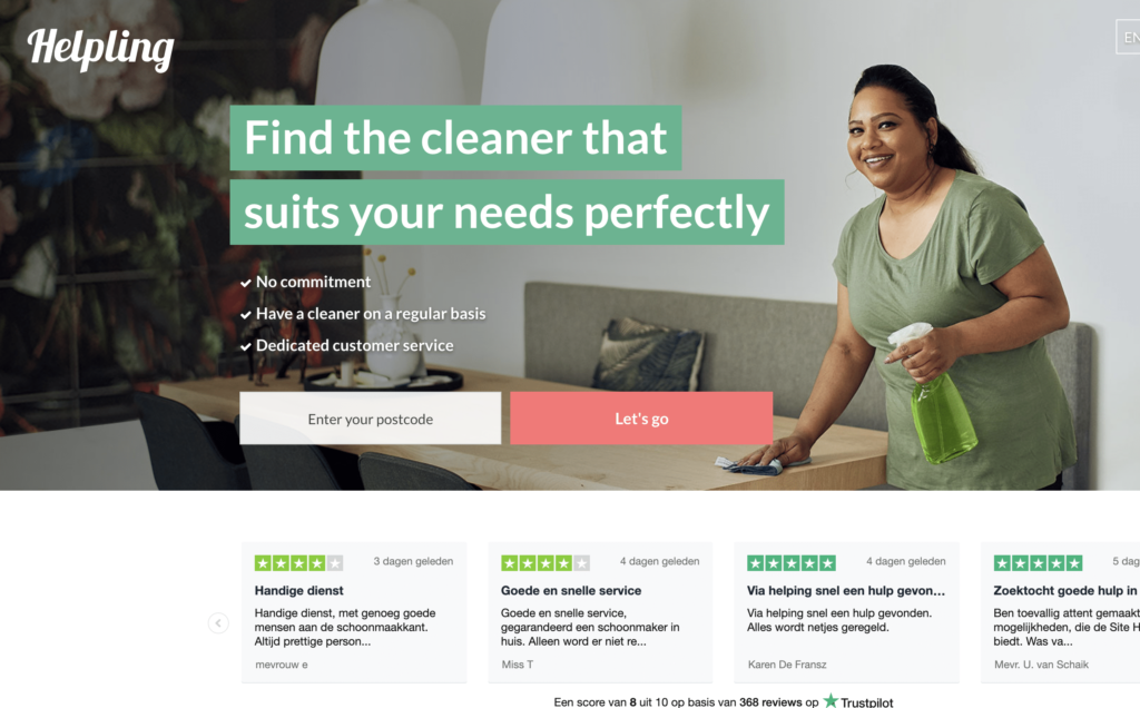 Finding a cleaner with Helpling