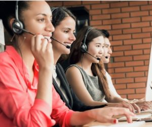 Ethnically Diverse Call Center Workers