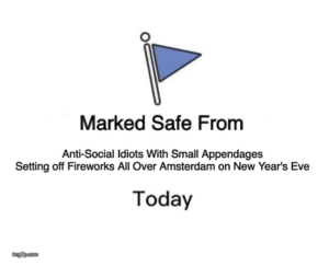 marked safe from fireworks