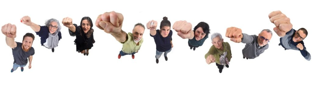 group of people on white background,