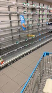 AH Gelderlandplein empty shelves