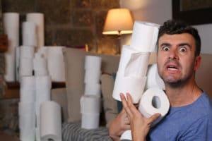 coronavirus emergency toilet paper hoarder