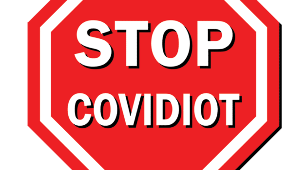 covidiot stop sign