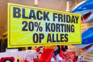 shop window with korting